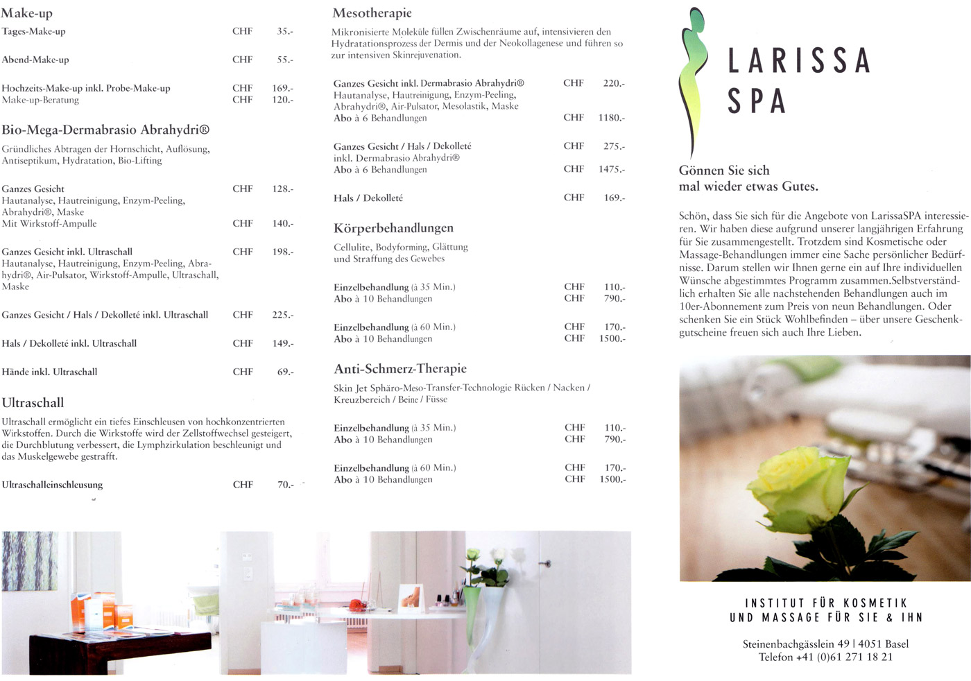 Larissa SPA, Kosmetik Basel